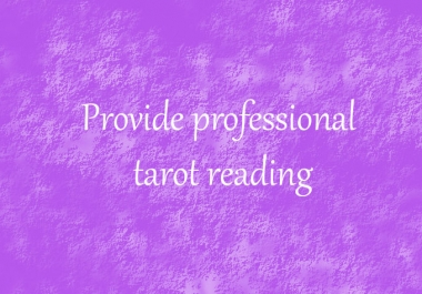 provide a tarot reading for you